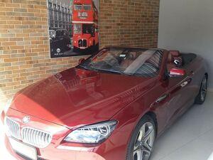 BMW 650i 4.4 Cabrio Turbo V8 Vinho 2013