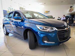 Chevrolet Onix 1.0 Premier Turbo Azul 2021