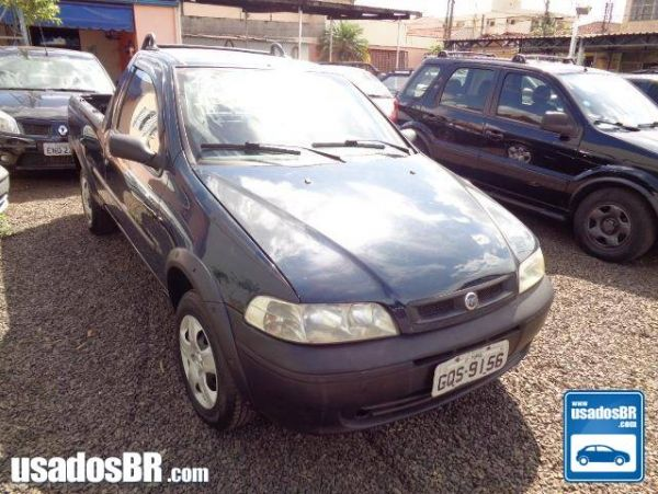 FIAT STRADA 1.3 MPI FIRE CS 8V GASOLINA 2P MANUAL Azul 2003