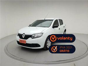 Renault Sandero 1.0 Authentique Branco 2018