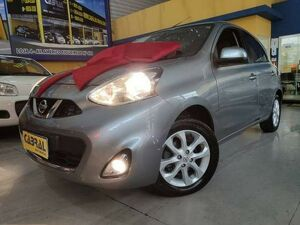 Nissan March 1.6 SV Cinza 2015