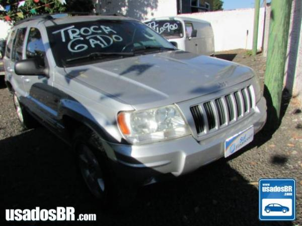 JEEP GRAND CHEROKEE 4.7 LIMITED V8 Prata 2004