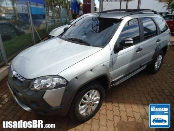 FIAT PALIO 1.8 MPI ADVENTURE WEEKEND 8V FLEX 4P MANUAL Prata 2013