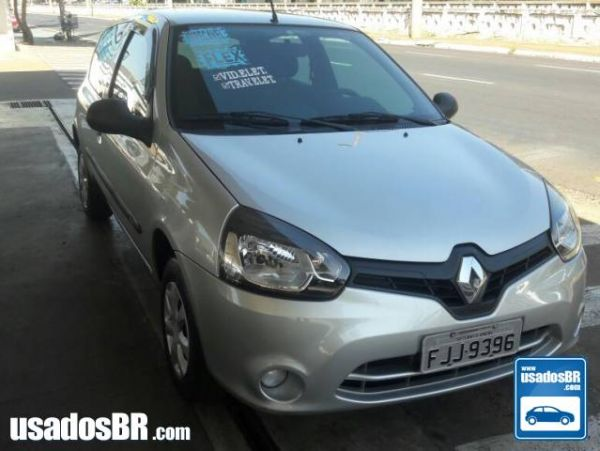RENAULT CLIO 1.0 AUTHENTIQUE 16V FLEX 2P MANUAL Prata 2013