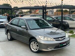 Honda Civic 1.7 LXL Cinza 2004