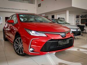 Toyota Corolla 1.8 Altis Premium Hybrid Vermelho 2021