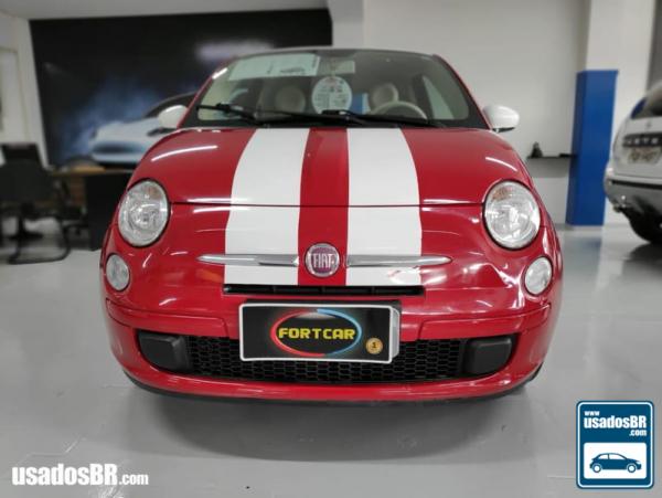 FIAT 500 1.4 CULT 8V Vermelho 2013