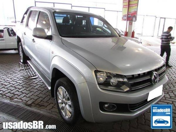VOLKSWAGEN AMAROK 2.0 HIGHLINE 4X4 CD 16V TURBO INTERCOOLER DIESEL 4P MANUAL Prata 2013