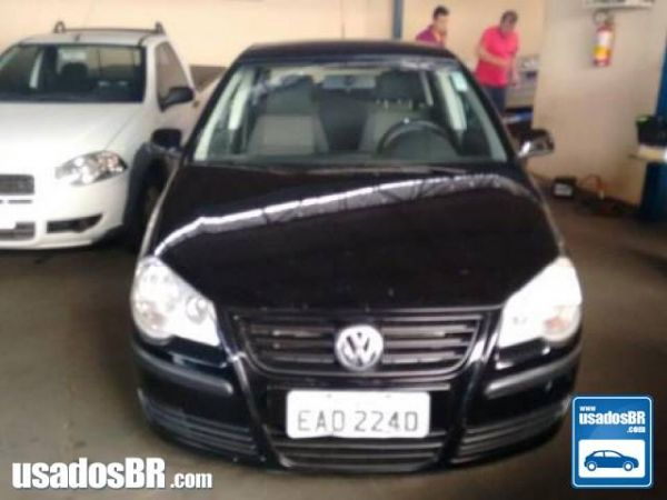 VOLKSWAGEN POLO SEDAN 1.6 8V Preto 2008