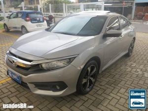 HONDA CIVIC 1.5 TOURING TURBO Prata 2017