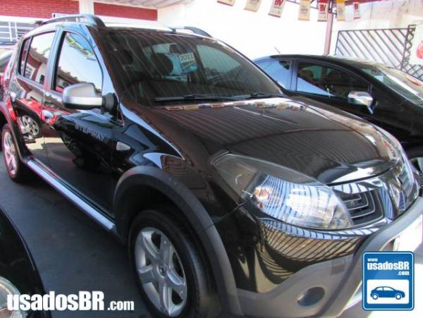 RENAULT SANDERO 1.6 STEPWAY 8V FLEX 4P MANUAL Preto 2011