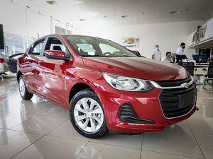 Chevrolet Onix 1.0 Turbo Plus LT Vermelho 2022