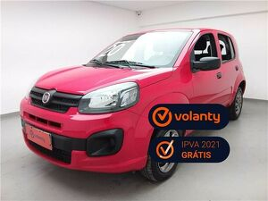 Fiat Uno 1.0 Evo Attractive 8V Vermelho 2020